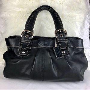 Coach Black Soho Pleated Shoulder Bag K0951-F13732